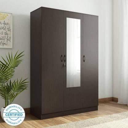Home Full Engineered Wood 3 Door Wardrobe