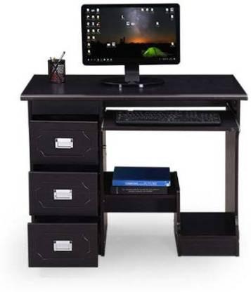 RoyalOak Amber Engineered Wood Computer Desk Modular, Finish Color   Black