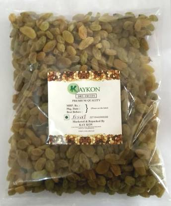 kaykon Kashmiri Kishmish Pure and Premium Quality Green - 1 KG Raisins  (1000 g)
