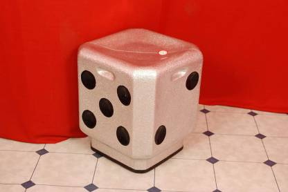 Raman fiber glass DICE Living & Bedroom Stool