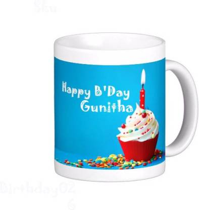 Exoctic Silver GUNITHA_Best Birth Day Gift For Loved One's_HBD 26 Ceramic Coffee Mug
