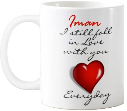 Exoctic Silver IMAN_Best Gift For Loved One's_HBD 26 Ceramic Coffee Mug