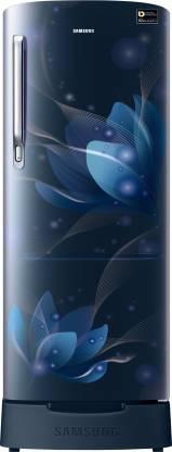 Samsung 192 L Direct Cool Single Door 5 Star Refrigerator with Base Drawer (Saffron Blue, RR20R182XU8/HL)