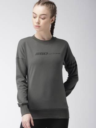 2GO Full Sleeve Solid Women Sweatshirt