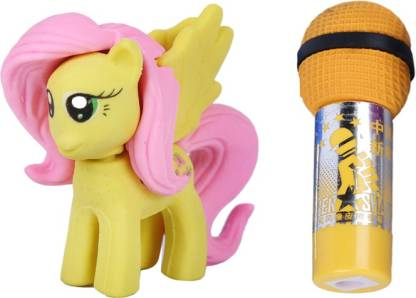 AutoVHPR Set of 2 Cute Yellow Mare with yellow Mike shaped Eraser for School Children Non-Toxic Eraser