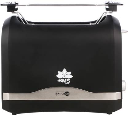 BMS Lifestyle SWITCH ON COOL TOUCH Toasters with 2 Extra Wide Slots 6 Browning Dials and Removable Crumb Tray Warming Rack for Breakfast Bread Muffins Ovens Toasters with Defrost Reheat Cancel Function 870 W Pop Up Toaster