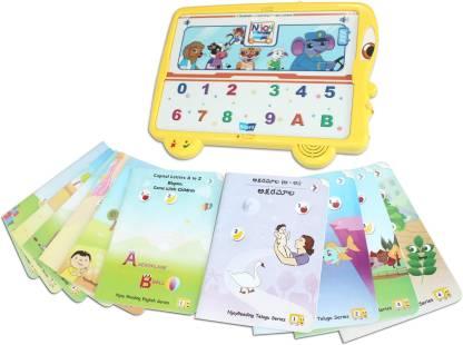 BodhaGuru NjoyReading Kit with Audio and Activity Enabled Language Learning Books (English & Telugu)