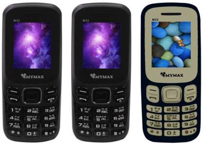 MYMAX M32 Combo of Three Mobiles