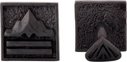 Voylla Brass Cufflink(Black)
