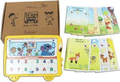 BodhaGuru NjoyReading Kit with Audio and Activity Enabled Language Learning Books (English & Hindi)