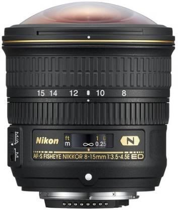 Nikon AF-S Fisheye Nikkor 8-15mm f/3.5-4.5E ED Lens(Black, 8 - 15)