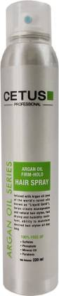 CETUS Argan Oil Firm Hold Hair Spray for hair styling and Finishing - 220 ml Hair Spray