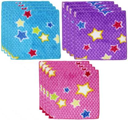 "Neska Moda Womens Star Cotton 25X25 CM [""Multicolor""] Handkerchief  (Pack of 12)"