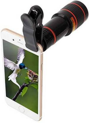 Mindmaker Universal 12X Zoom Telescope Camera + Adjustable Holder Mobile Phone Lens(Wide and Macro) Mobile Phone Lens