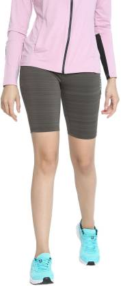 Chkokko Solid Women Grey Sports Shorts