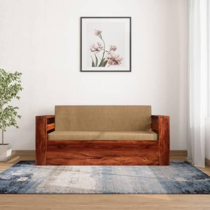 Home Edge Shredder Sheesham Double Solid Wood Sofa Bed