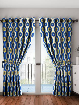 Bombay Dyeing 214 cm (7 ft) Polyester Door Curtain (Pack Of 2)