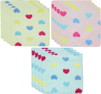 "Neska Moda Womens Heart Cotton 25X25 CM [""Multicolor""] Handkerchief  (Pack of 12)"