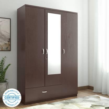 Hometown Utsav Engineered Wood 3 Door Almirah
