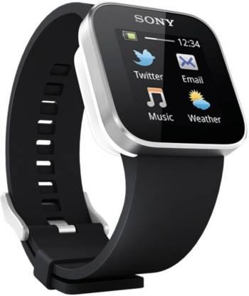 SONY Smart Watch (Silver, Black) Smartwatch
