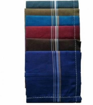 """Shop At Bargain Cotton Handkerchief-Pack of 6 [""""Multicolor""""] Handkerchief"""
