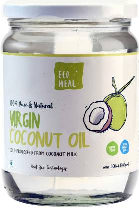 Ecoheal Cold Processed Extra Virgin Coconut Oil Jar