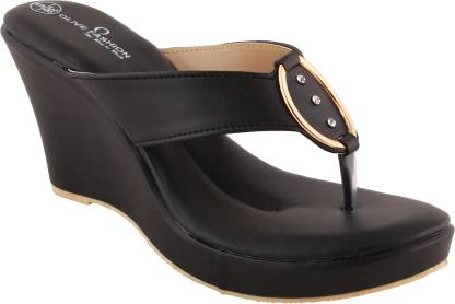Olive Fashion Women Black Wedges