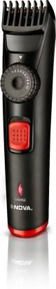 Nova Prime series NHT 1096 Runtime: 120 mins Trimmer for Men Black, Red  Nova Trimmers