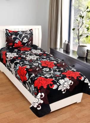 Mashiva 150 TC Cotton Single Printed Bedsheet