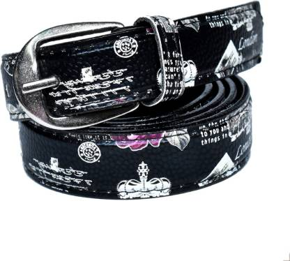 Variety & Capture Women Casual Black Artificial Leather Belt