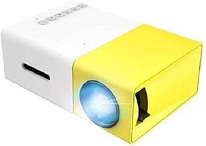 CHG LED Corded & Cordless Portable Projector (Yellow) Portable Projector (White) Portable Projector