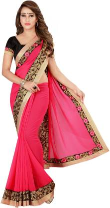 Kuki Solid Fashion Poly Georgette Saree