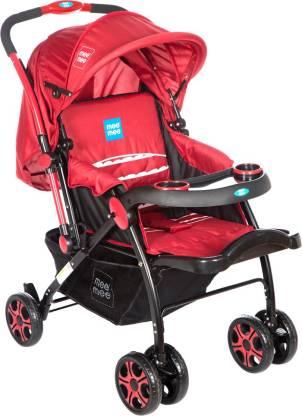 MeeMee Advanced Baby Pram with Shock Absorber Wheels Pram(3, Red)
