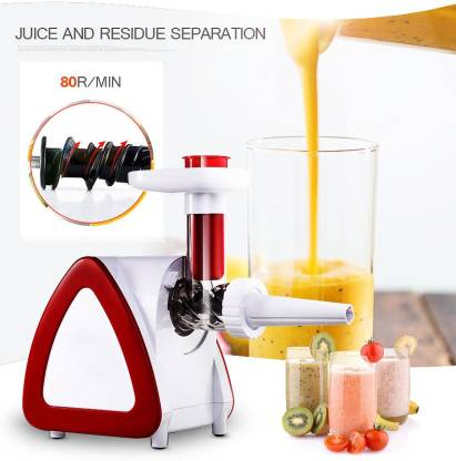 BMS Lifestyle JUICER Wide Chute Slow Masticating Juicer Extractor,Cold Press Juicer Machine for High Nutrient Fruit and Vegetable Juice 300 Juicer (White)