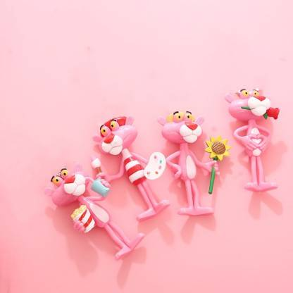 4Pcs Pink Panther Gift Collection Figure Popular Cartoon Character free shiping