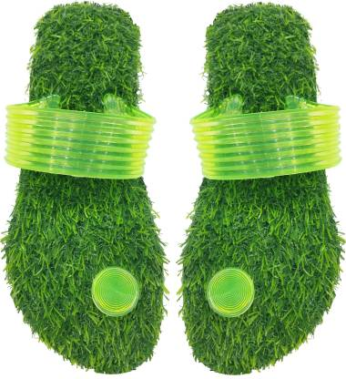 ADJ Double Soft Comfortable Grass Eva Rubber Healthy Slippers For Men's And Boy's Flip Flops