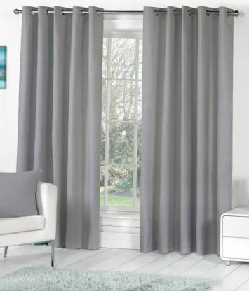 Homefab India 244 cm (8 ft) Polyester Long Door Curtain (Pack Of 2)
