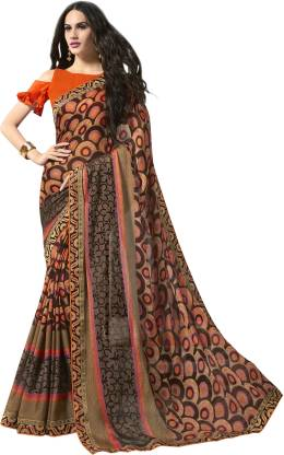Printed Fashion Chiffon Saree  (Multicolor)