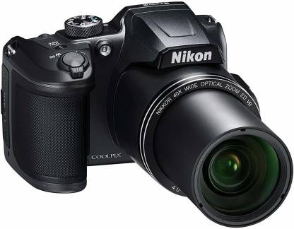 NIKON Coolpix Coolpix B500 16MP Point and Shoot Camera with 40x Optical Zoom (Black) + HDMI Cable + 16 GB SD Card + Carry Case Free B500