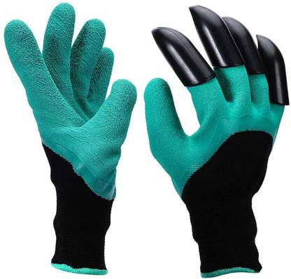 Swarish Garden Gloves with Claws for Digging & Planting - No More Worn Out Fingertips - One Size Fits All ( 1 Pair) Gardening Shoulder Glove