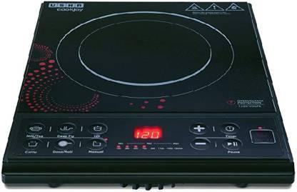 USHA Cook Joy (3616) 1600-Watt Induction Cooktop (Black) Induction Cooktop