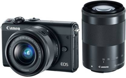 Canon M100 Mirrorless Camera EF-M15-45mm + EF-M55-200mm