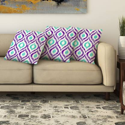 LA VERNE 3D Printed Cushions Cover  (Pack of 3, 40 cm*40 cm, Multicolor)