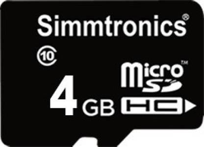 Simmtronics HC 4 GB MicroSD Card Class 10 48 MB/s  Memory Card