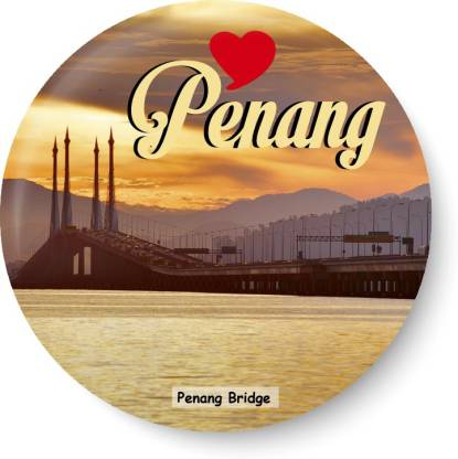 PEACOCKRIDE Love Penang I Penang Bridge I Malaysia Diaries I Fridge Magnet Pack of 1