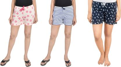 A9 Printed, Striped Women Multicolor Night Shorts