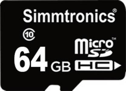 Simmtronics SDHC 64 GB MicroSD Card Class 10 95 MB/s  Memory Card