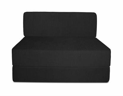 Aart Store Sofa Cum Bed 3x6 Feet One Seater Sleeps & Comfortably Mechanism Type Fold Out Sofa Black Color Single Sofa Bed