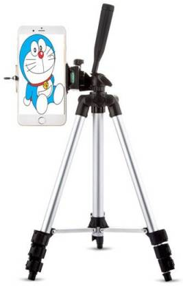 casadomani High Quality 3110 Tripod stand With 3-Way Head Light weight Digital Camera Tripod with Mobile Clip Holder Best Use for Make Videos on Tiktok,Vigo Video,Snapchat, YouTube and Dubsmash Tripod