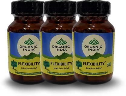 Organic India Flexibility 60 Capsules Bottle- (Pack Of 3)